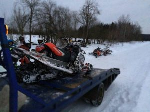 Перевозка снегохода в Голыгино
